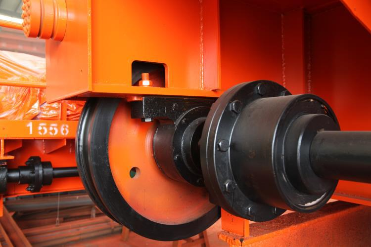 Jib Crane Wheels : Cast forged crane wheels on rails driving and driven