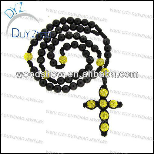 Fashion hip hop rosary necklace