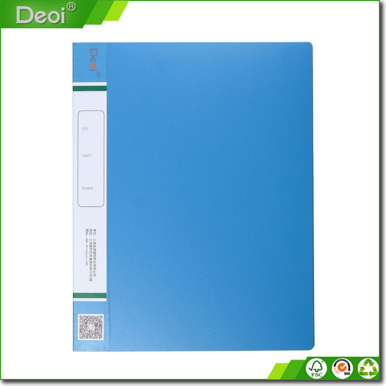 2015 Eco-friendly A3 A4 A5 size 2 holes & 20 pockets pp/pvc ring binder with matt surface