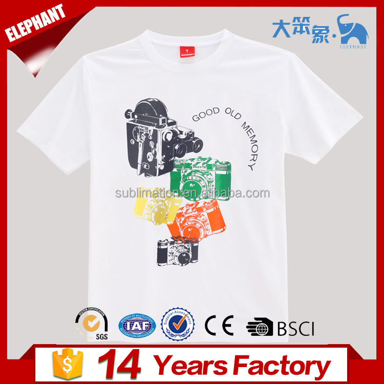Cheap 100% cotton custom logo sublimation printed t shirt