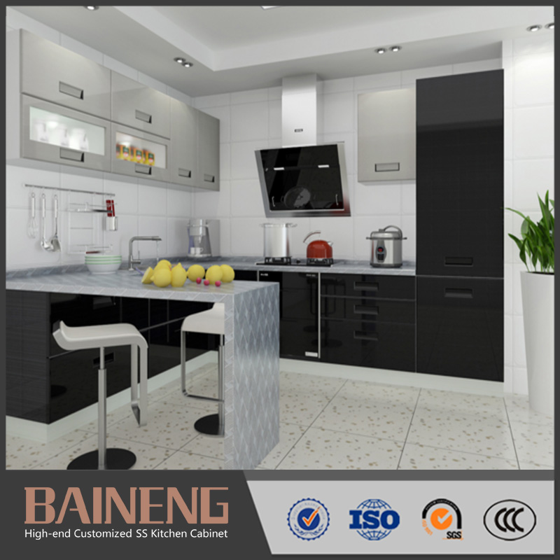 New Model Stainless Steel Commercial Kitchen Cabinet Metal Kitchen Cabinets For Sale View Stainless Steel Commercial Kitchen Cabinet Baineng