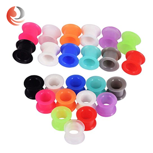 Zhiren flexible silicone flesh piercing Tunnel