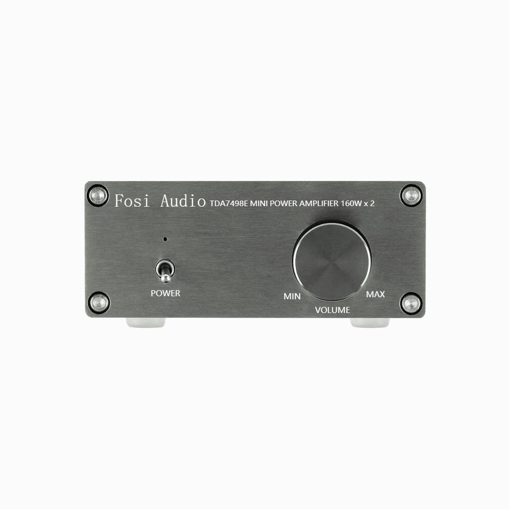 TDA7498E 2 Channel Stereo Audio Amplifier Receiver Mini Hi-Fi Class D Integrated Amp Home Speakers 160W x 2 + Power Supply