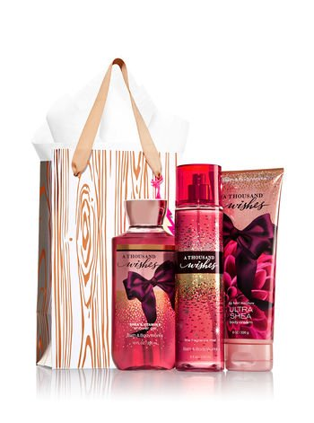 Buy Bath Body Works A Thousand Wishes Rose Gold Natural Gift Kit