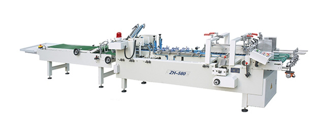 ZH-580 2019 new high speed machinery automatic cold glue carton folder gluer