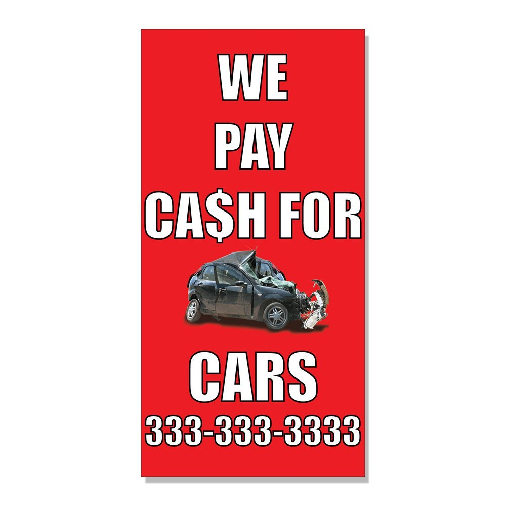 Buy We Pay Cash For Junk Cars With Image Style 2 DECAL STICKER ...