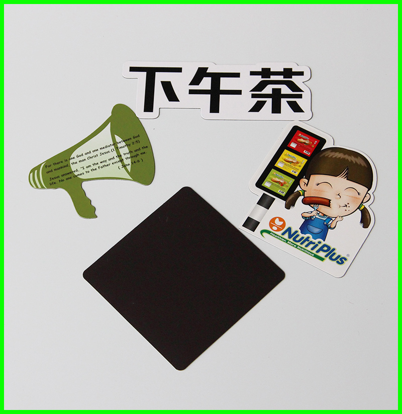 promotional full color printed coated paper fridge magnet