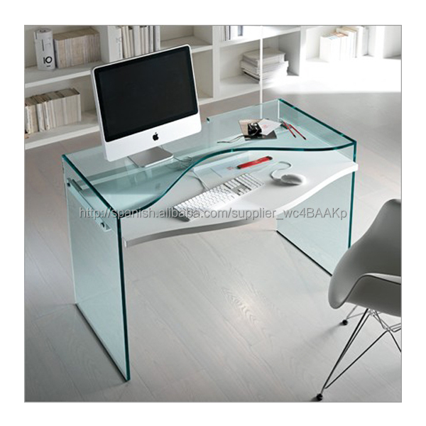 N679 Escritorio de oficina moderna Tabla Cristal ordenador, vidrio ...