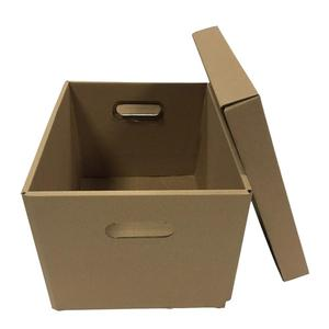 Custom corrugated paper document packaging box