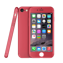 Wholesale PC material full cover protective cell phone 360 case for iphone 7 7 plus