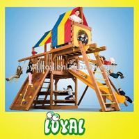 CE outdoor garden wooden chair swing