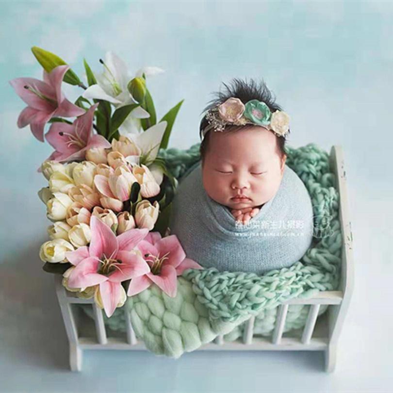 Newborn Swaddle Knit Blanket Baby Boy Girl Photography Wrap Props Knit Cotton Jersey Blanket Newborn Props Stretch Knit Wrap, Multiple