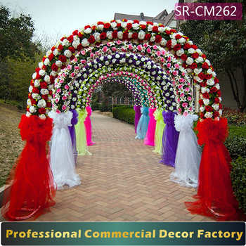 Custom foldable giant wedding arch gate decoration with artificial custom foldable giant wedding arch gate decoration with artificial flower junglespirit Gallery