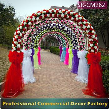 Custom foldable giant wedding arch gate decoration with artificial custom foldable giant wedding arch gate decoration with artificial flower junglespirit Choice Image