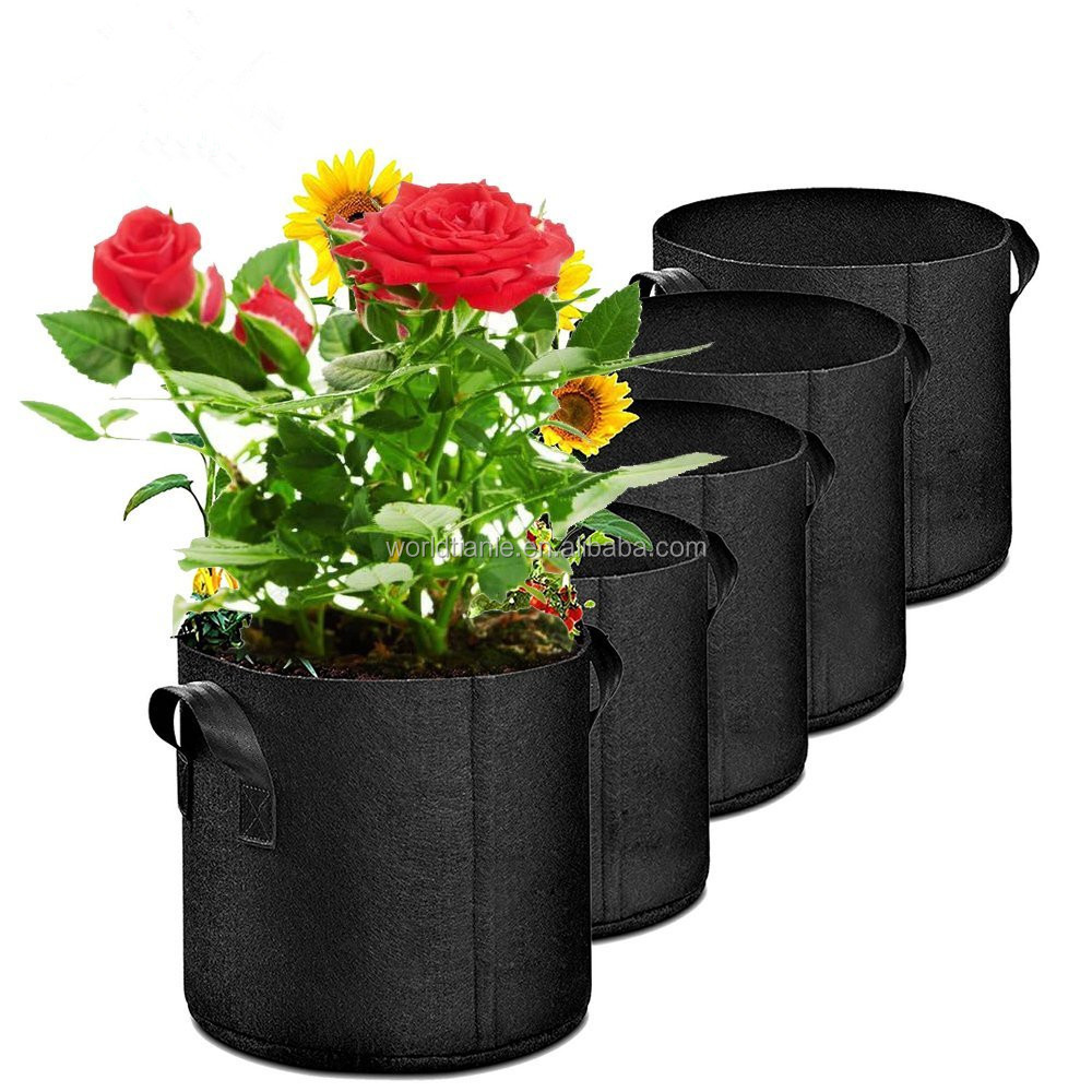Planting Grow Bags Made Of Growth Friendly Felt/vertical garden grow bags With Handle