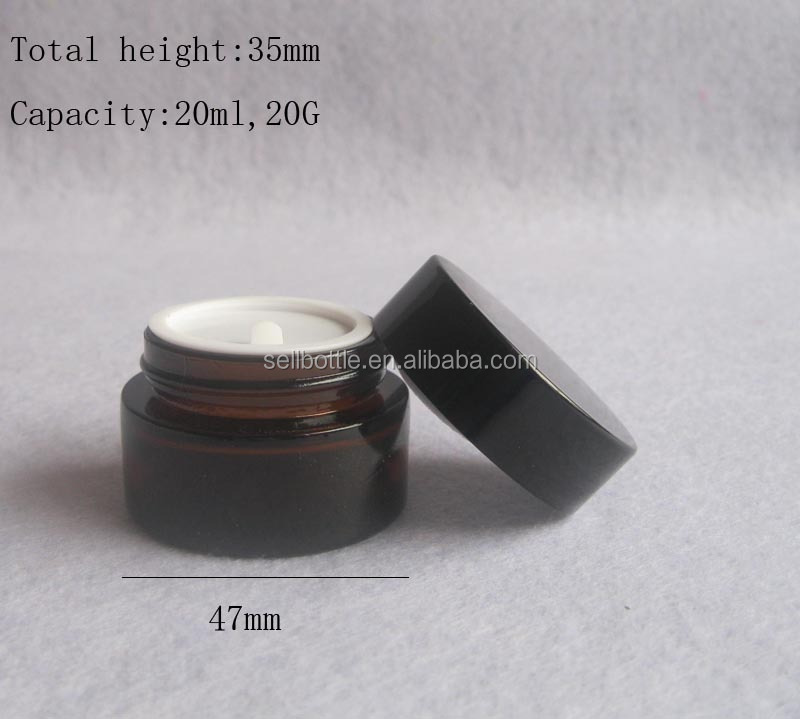 15g 20g 30g 50g glass empty cosmetic jar for sale