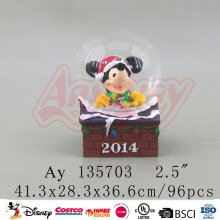 Brand new mouse favors snow globe home decoration with promotion