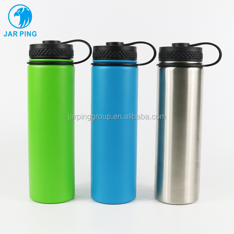 China manufacturer wholesale thermos travel drink bottle 600ml stainless steel water bottles flask, Customized color