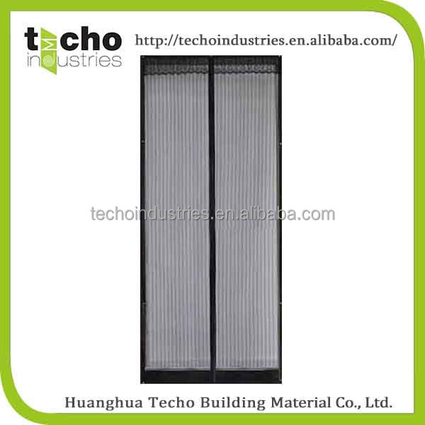 White or black magnetic mesh screen door curtains