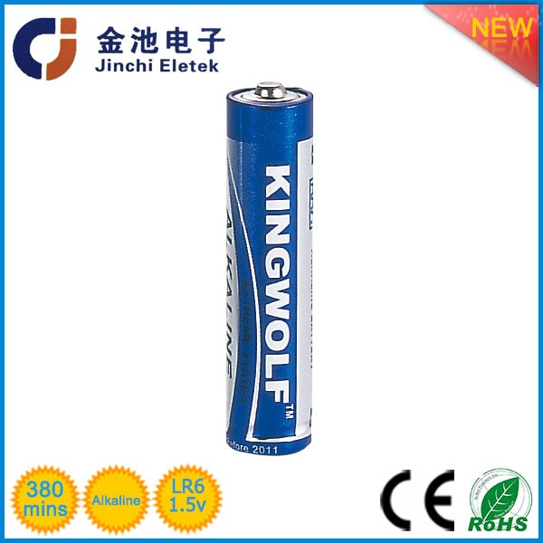 Non-rechargeable 1.5V aa LR6 customized alkaline battery