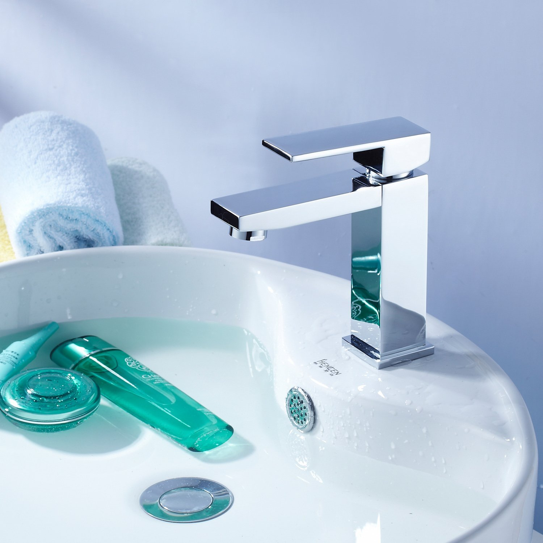 Get Quotations · Single Handle Centerset Bathroom Sink Faucet Chrome Finish  Single Hole Bar Faucets Lavatory Basin Bath Shower