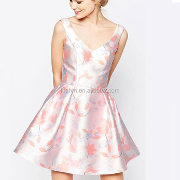 Elegance fashion mini printed dress v neck plus size formal summer women dresses sexy for lady