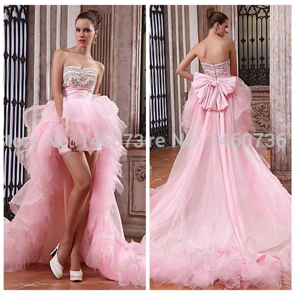 robes de mari e 2016 new sexy rose p le en taffetas perl e court long front retour backless robe. Black Bedroom Furniture Sets. Home Design Ideas
