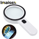 Magnifying Glass with Light, 30X Handheld Large Magnifying Glass 12 LED Illuminated Lighted Magnifier for Seniors Reading