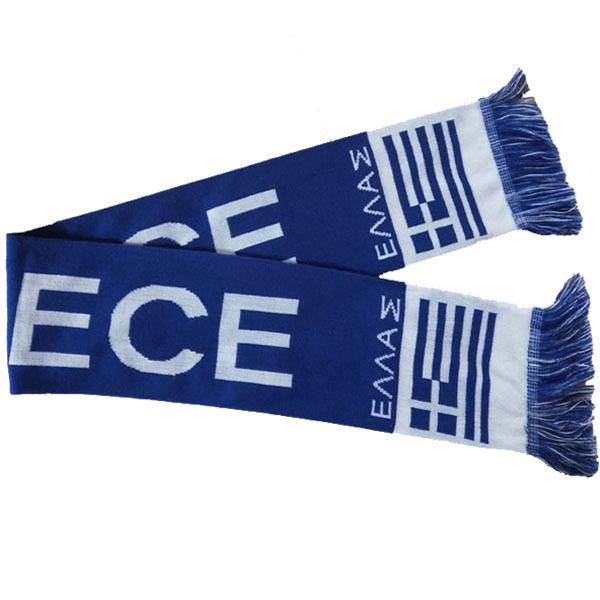 GREECE NATIONAL SOCCER FOOTBALL TEAM SCARF BRAND NEW SEKEM