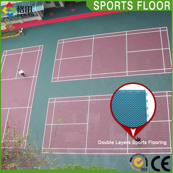 Promotional Top Quality Pp Interlocking Badminton Court Size In Meters