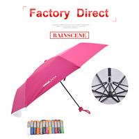 cheap folding umbrella folding pocket size with plastic case