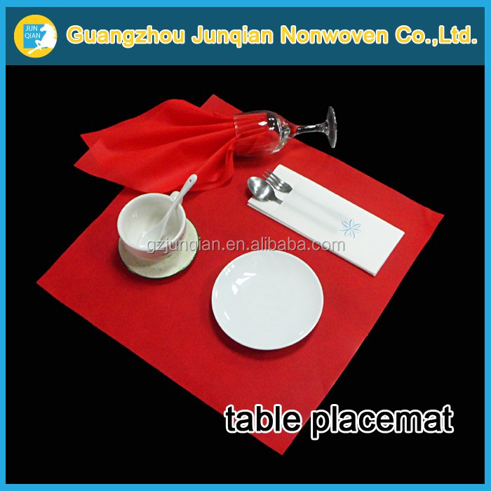 Nonwoven Fabric For Wedding Decoration Home Textile Fabric Nonwoven Products Dining Table Mat