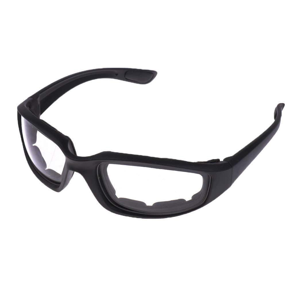3a2ddb66cbe63 Get Quotations · Dolity Motorcycle Riding Glasses Comfortable Vented Foam  Padding on the Entire Inside of the Glasses Plus
