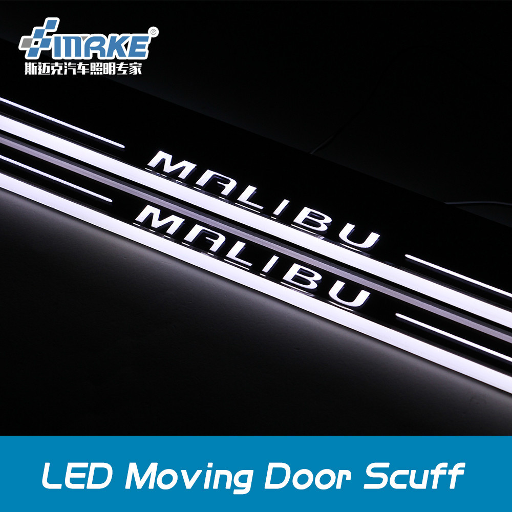 2011-2015 Chevy Malibu Led Moving Door Sill Plate , Led
