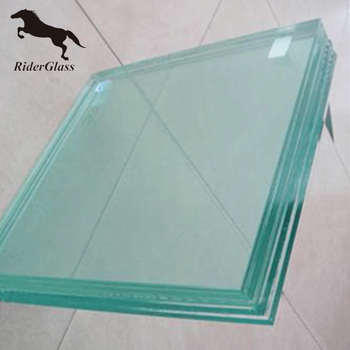 4mm 10mm Flat Clear Tempered Glass