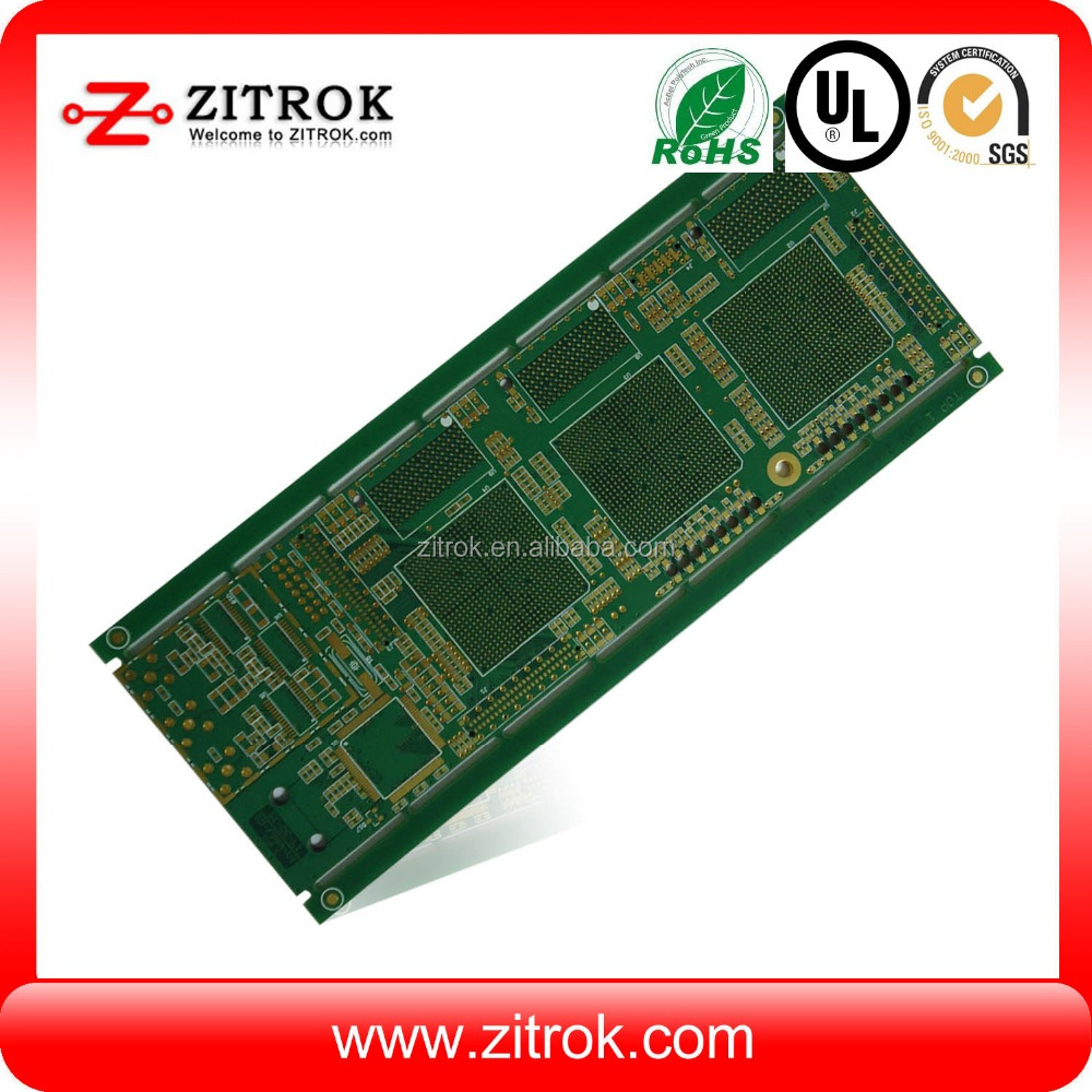 Multilayer Immersion Silver wifi thermostat pcb, custom Printed Circuit Board manufacture