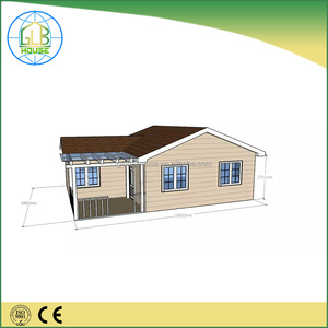 China Cheap price 70 square meter prefab house 3 bedroom villa
