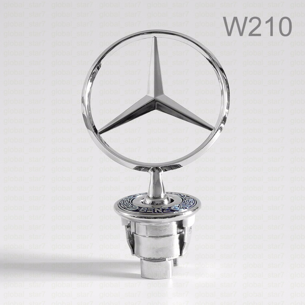 Высокое качество 44 мм металла значка автомобиля, W210 гуд знак начальник эмблема S230 C160 W163 W124 W202 W203 W208 W210 W211 автомобиль логотип