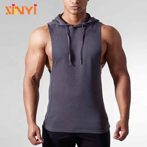 Wholesale Men Gym Sexy Tank Custom Design Fitness Mens Raglan Sleeves Hoodies Sports Wear