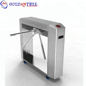 China OEM manufacturer bidirectional tripod turnstile design waist height movable turnstile with screen