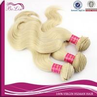613# Blonde 100% Brazilian Virgin Remy Hair High Quality Brazilian Body Wave Hair Virgin Brazilian Hair Extensions