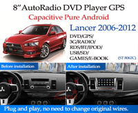 2 Din Android 4.4 car dvd with RDS Multimedia ,3G,wifi,support back up camera FOR Mitsubishi Lancer (2007-2012)