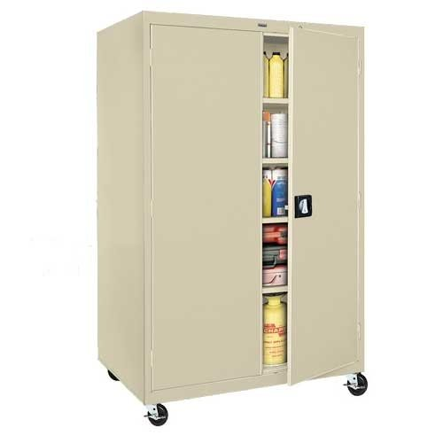 Sandusky Lee TA4R462472-07 Transport Series Mobile Storage Cabinet, Putty