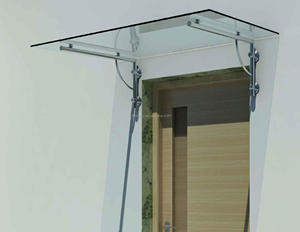 External 304/316Stainless Steel Glass Canopy Awning For Roof
