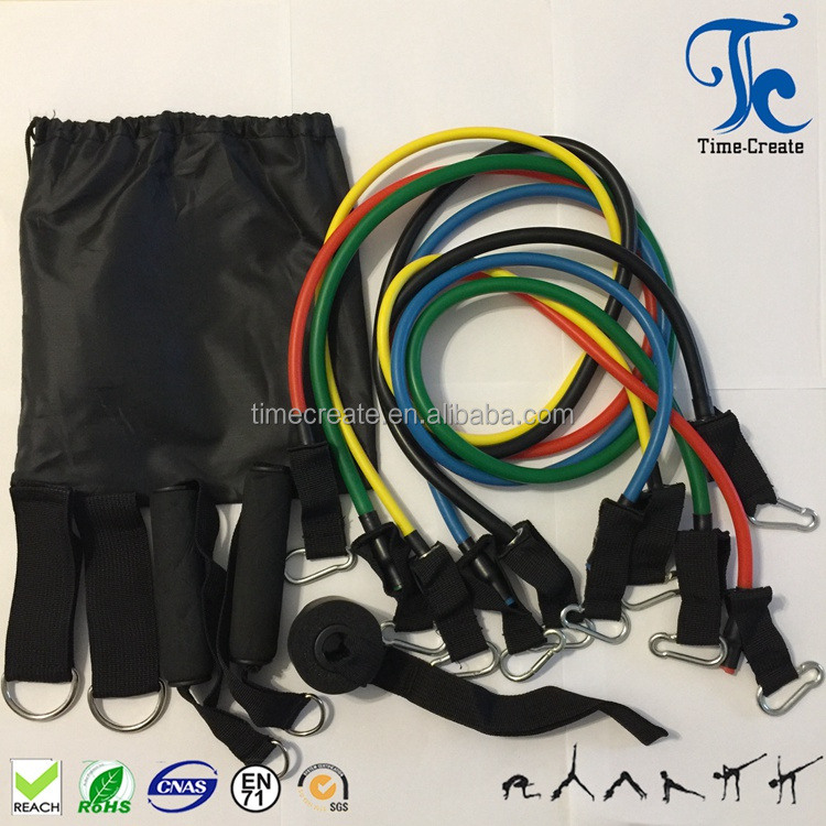 high strength big heavy hook different size combine 11 pcs resistance band set