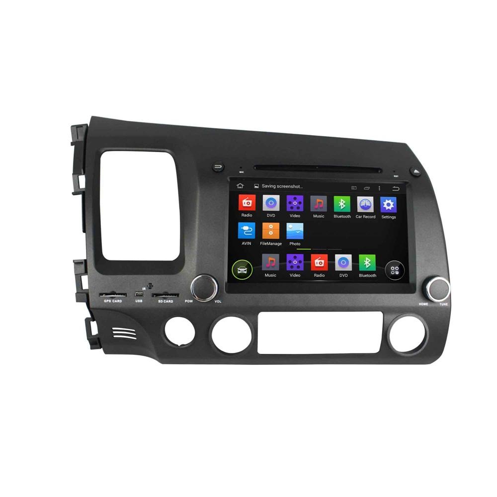 Honda Civic 2019 Indash Navigation Android System: 8'' Car Stereo DVD GPS Navigation For Honda HONDA CIVIC