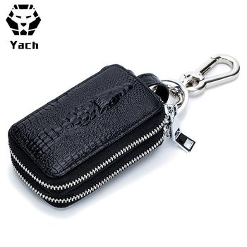 74b9276fdc8f Mens Durable Genuine Mini Style Travel Zipper Logo Custom Case Ring Finder  Pouch Chain Car Holder Keys Bag Leather Key Wallet - Buy Leather Key ...