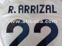 soccer shirt high quality/font madrid for customer name available