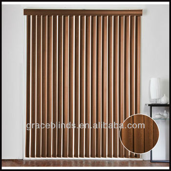 89mm Basswood Slats Aluminiumheadrail With 25mm Wood Valance Timber