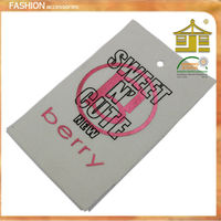 woven edge printed double face clothing label,made in guangzhou